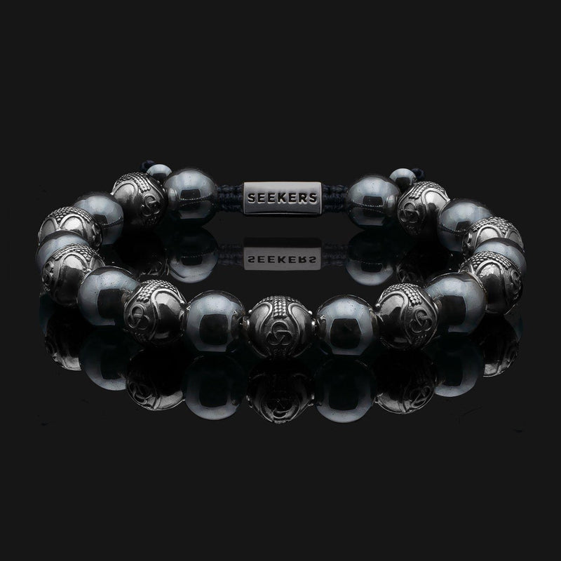Prestige Hematite Black Gold Bracelet-Beaded Bracelet-Seekers Luxury-Seekers Luxury