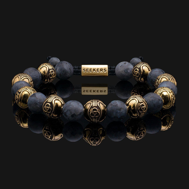 Prestige Labradorite Matte Gold Bracelet-Beaded Bracelet-Seekers Luxury-Seekers Luxury