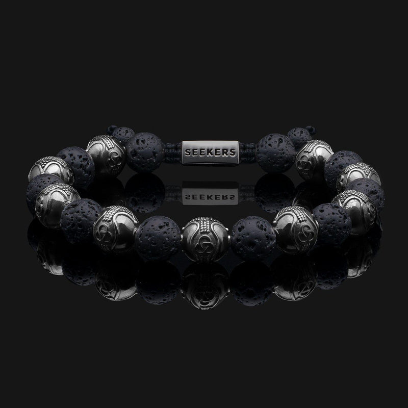 Prestige Lava Black Gold Bracelet-Beaded Bracelet-Seekers Luxury-Seekers Luxury
