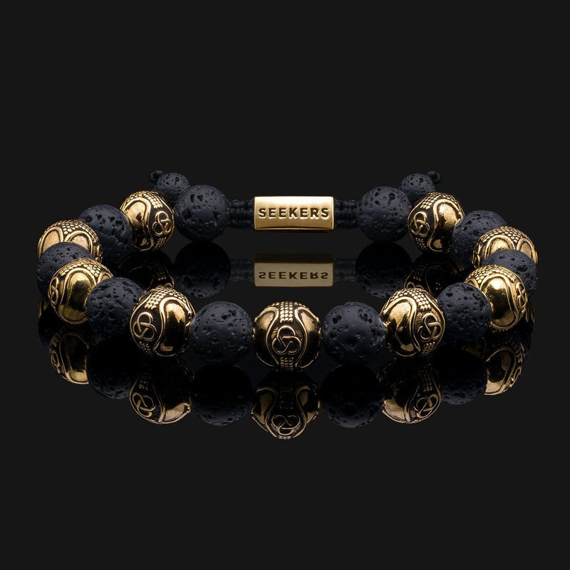 Prestige Lava Gold Bracelet-Beaded Bracelet-Seekers Luxury-Seekers Luxury