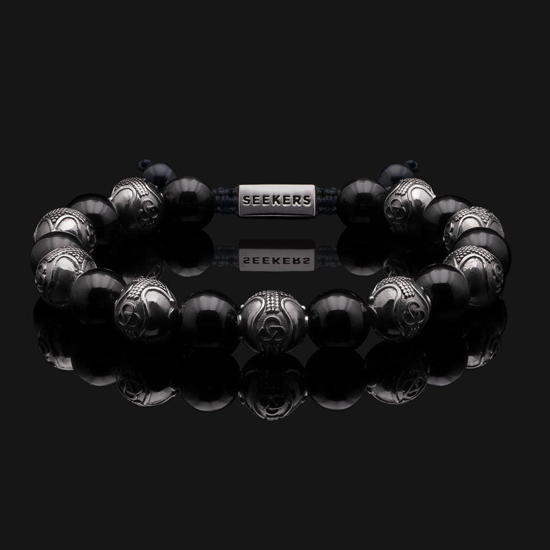 Prestige Onyx Black Gold Bracelet-Beaded Bracelet-Seekers Luxury-Seekers Luxury