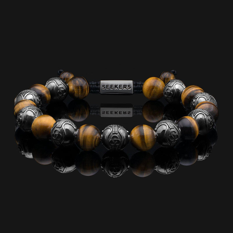Prestige Tiger Eye Black Gold Bracelet-Beaded Bracelet-Seekers Luxury-Seekers Luxury