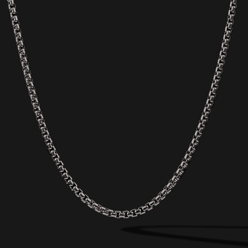Round Box Black Gold Chain-Chain-Seekers Luxury-26in - 66cm-Seekers Luxury