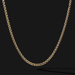 Round Box Gold Chain-Chain-Seekers Luxury-26in - 66cm-Seekers Luxury
