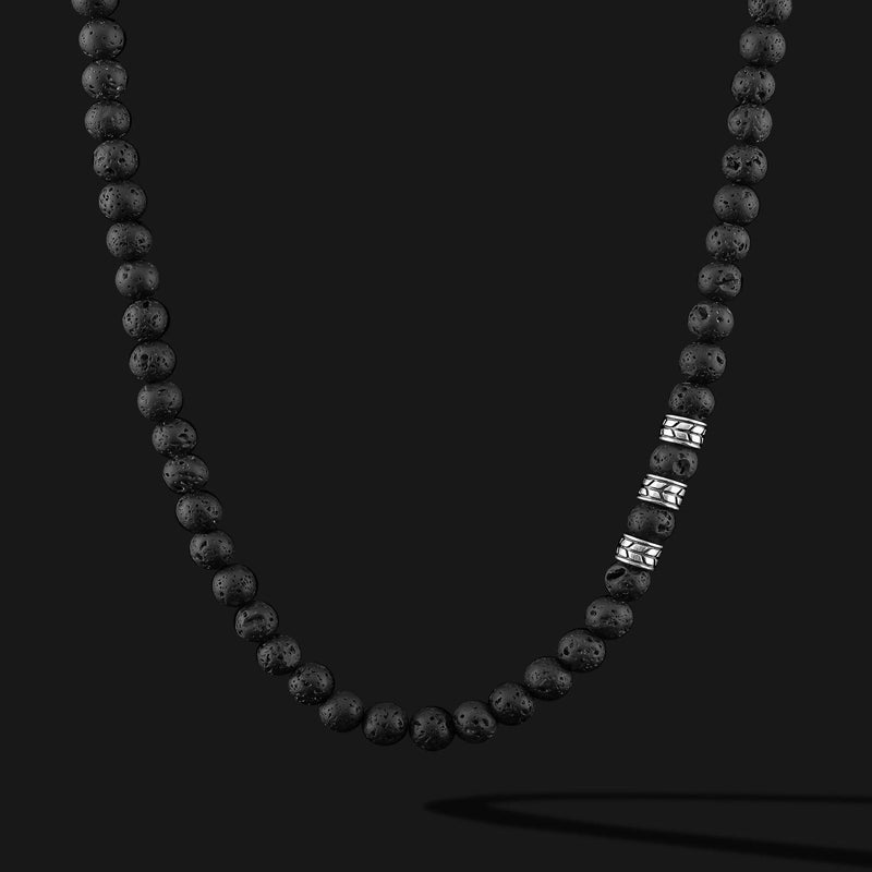 Royale Lava Silver Necklace-Necklace-Seekers Luxury-Seekers Luxury