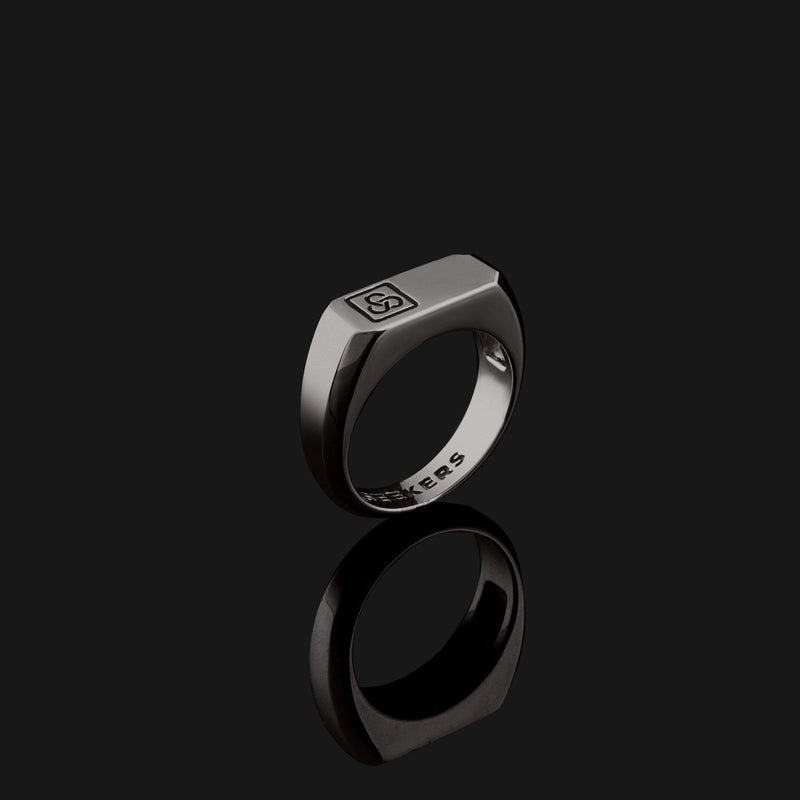 Signature Black Gold Ring-Ring-Seekers Luxury-Seekers Luxury