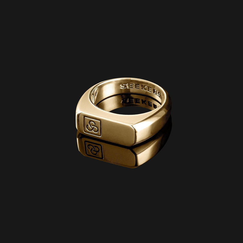 Signature Gold Ring-Ring-Seekers Luxury-Seekers Luxury