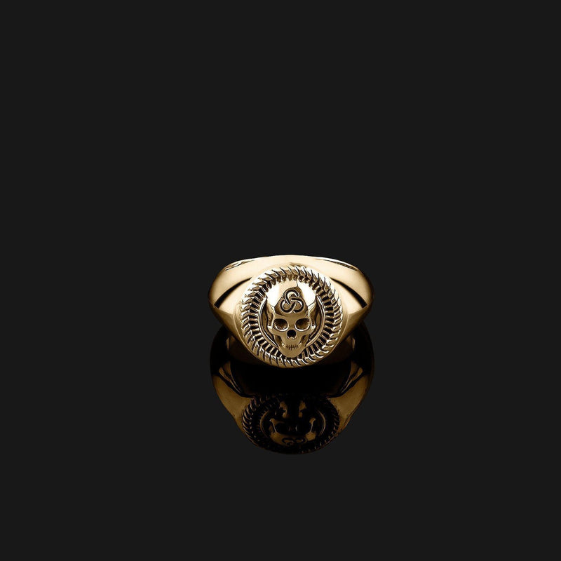 Skull Gold Ring-Ring-Seekers Luxury-Seekers Luxury