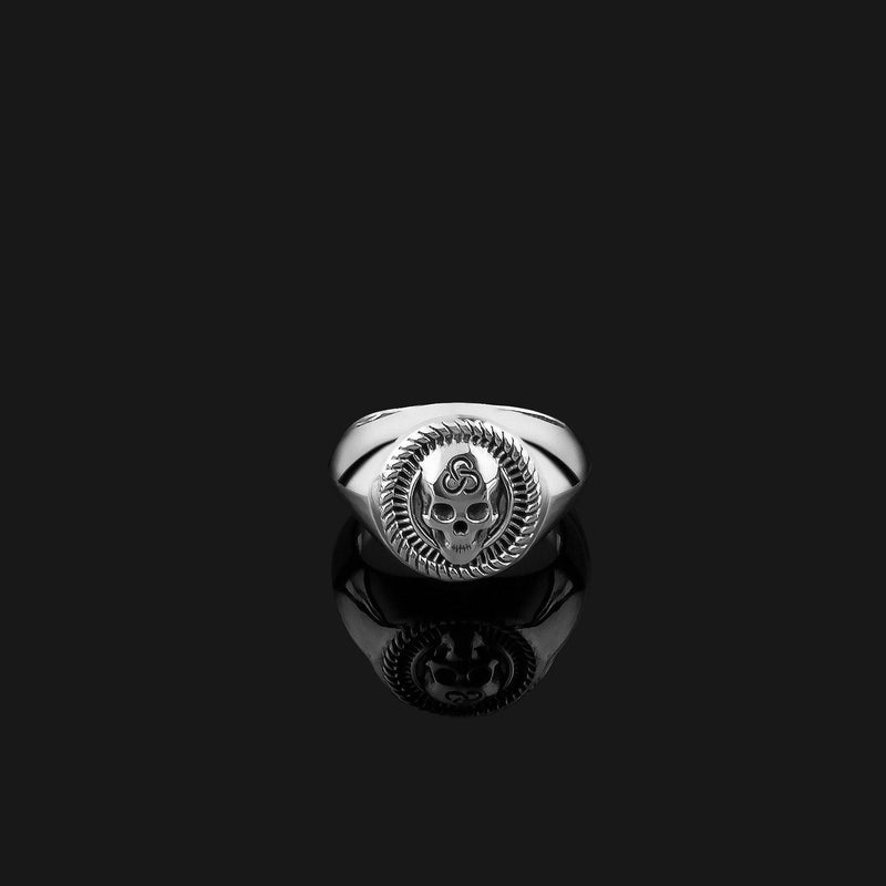 Skull Silver Ring-Ring-Seekers Luxury-Seekers Luxury