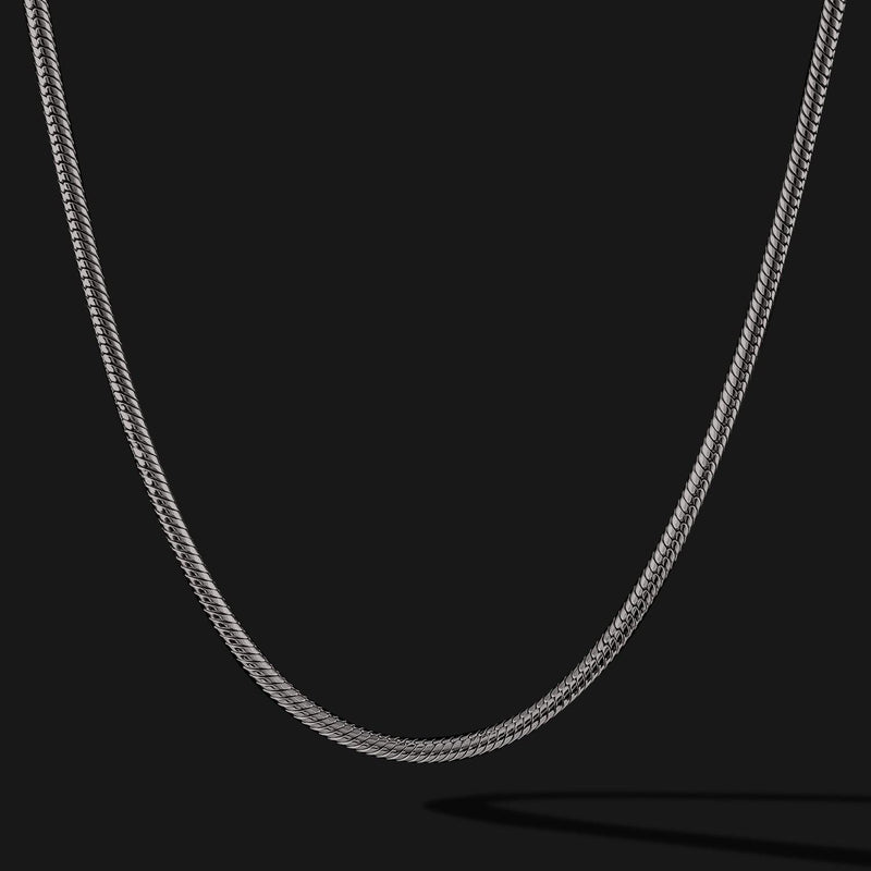 Snake Black Gold Chain-Chain-Seekers Luxury-26in - 66cm-Seekers Luxury