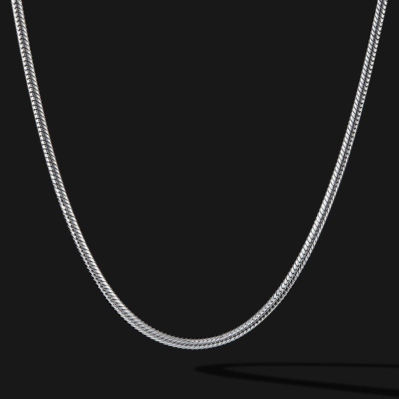 Snake Silver Chain-Chain-Seekers Luxury-26in - 66cm-Seekers Luxury