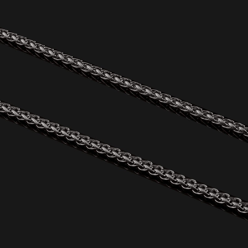 Wheat Black Gold Chain-Chain-Seekers Luxury-26in - 66cm-Seekers Luxury