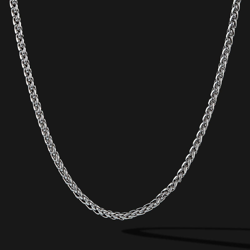 Wheat Silver Chain-Chain-Seekers Luxury-26in - 66cm-Seekers Luxury