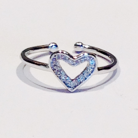 ELEGA 925 sterling silver heart ring