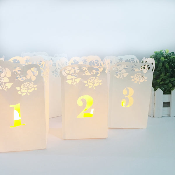 Easy DIY Table Number Luminaries