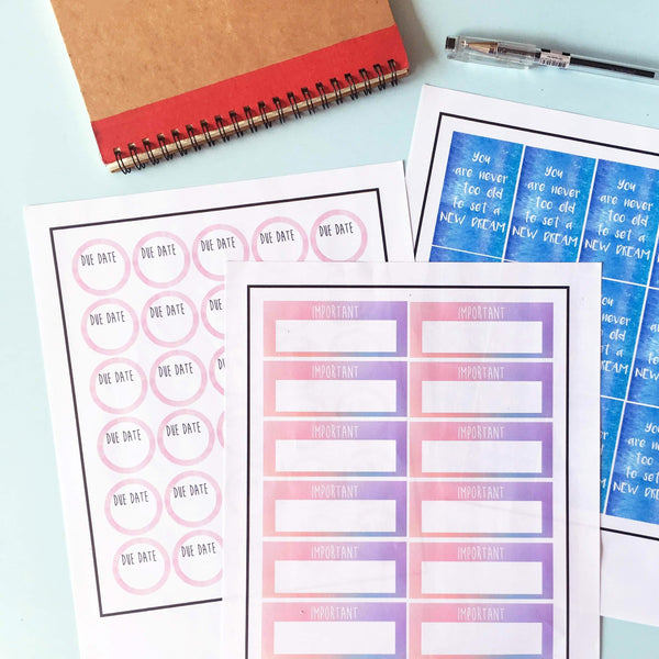 DIY Your Own Planner Stickers with Cricut