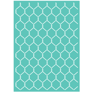 Cuttlebug™ 5x7 Chicken Wire Embossing Folder