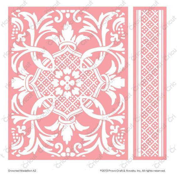 Cuttlebug™ A2 Embossing Folder & Border, Crowned Medallion