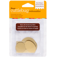 Cuttlebug™ Embossables Gold Shapes, Basic Shapes