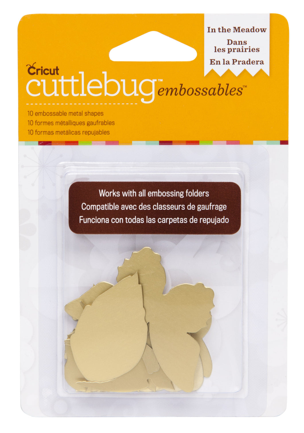 Cuttlebug™ Embossables Gold Shapes, In the Meadow