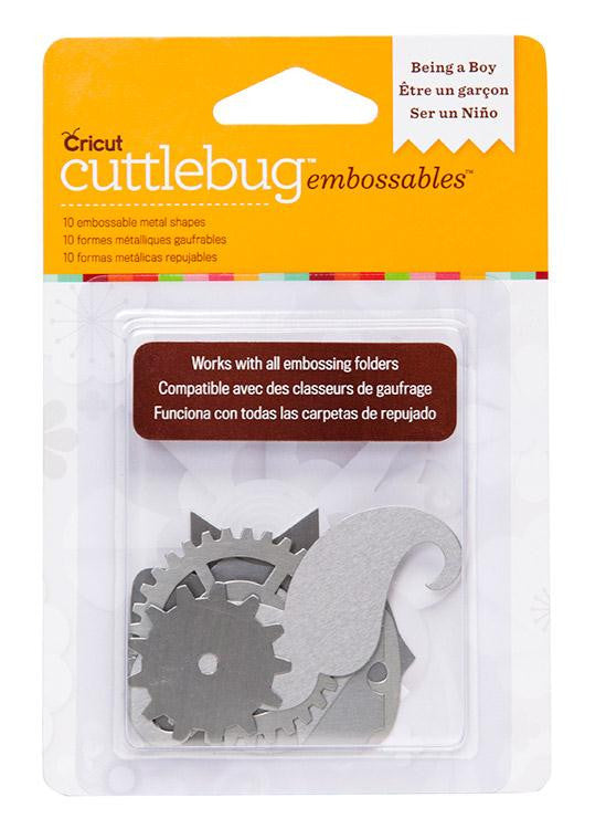 Cuttlebug™ Embossables Silver Shapes, Being a Boy