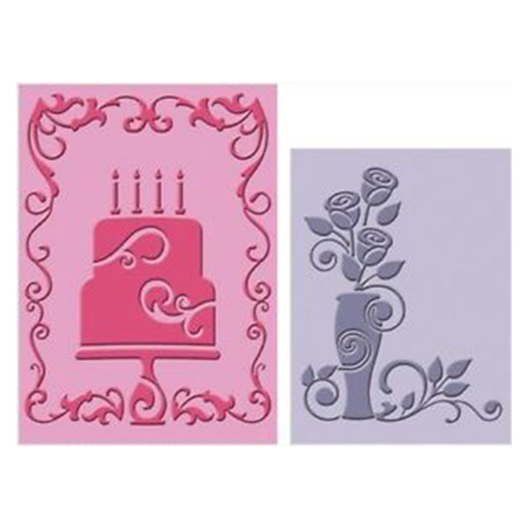 Cuttlebug® Embossing Folder, Celebrate with Flourish