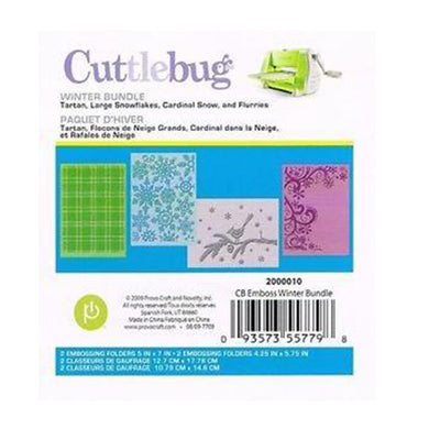 Cuttlebug™ A2 Embossing Folder Winter Bundle