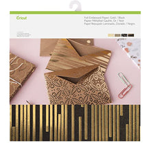 Deluxe Foil Embossed Paper, Gold/Black