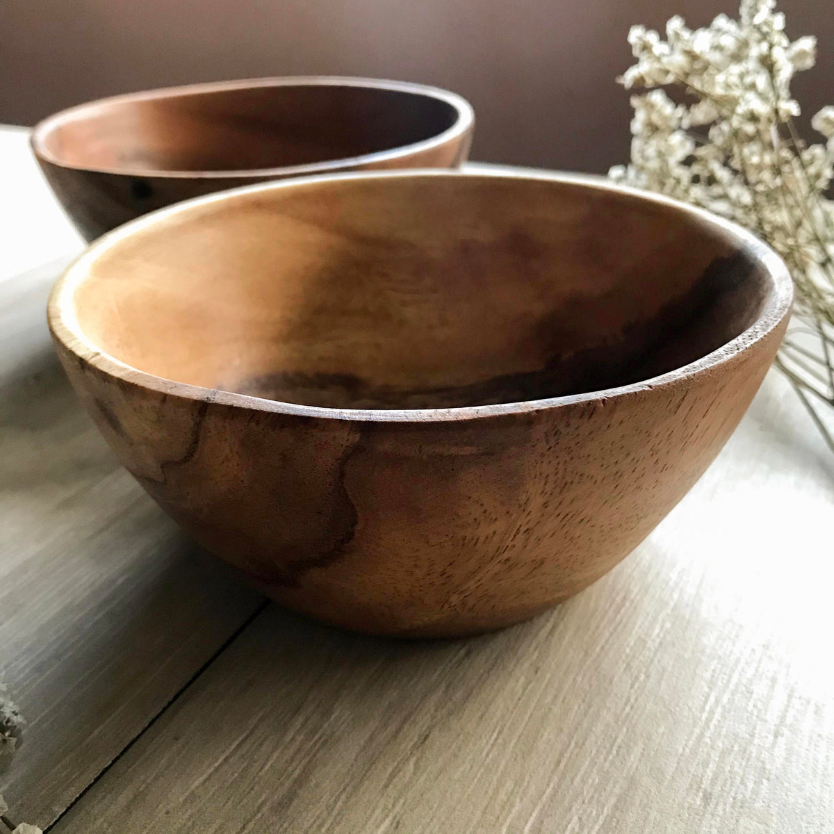 Acacia Wood Medium Bowl