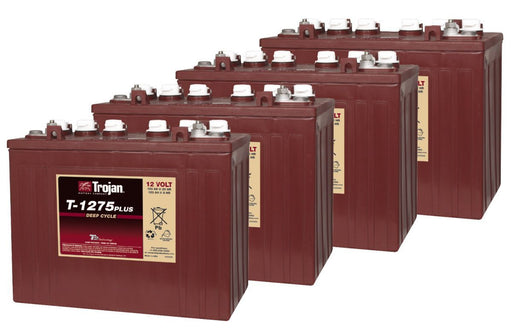 12 Volt Deep Cycle Golf Cart Battery | T-1275 Plus - Set of 4