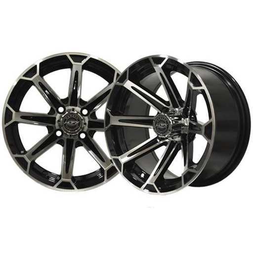 RIM PACKAGE - VORTEX Machined/Black 14x7 with 225/30-14 Tyre - SET OF 4