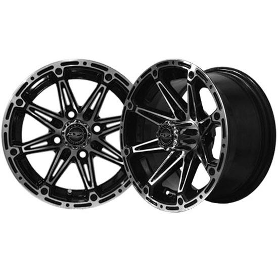 RIM PACKAGE - ELEMENT Machined/Black Wheel 14x7 with 205/40-14 Street Tyre - SET OF 4
