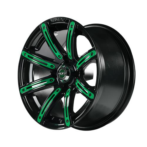 Green Inserts for Illusion 12x7 Wheel