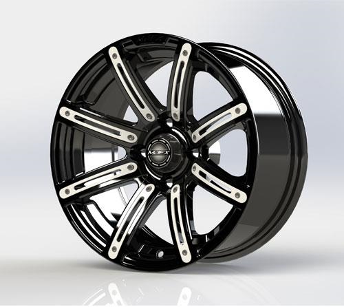 White Inserts for Illusion 14x7 Wheel