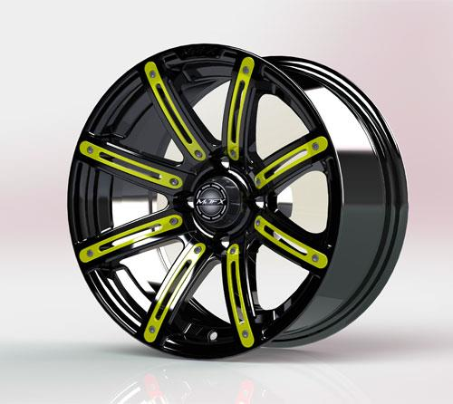 Yellow Inserts for Illusion 14x7 Wheel