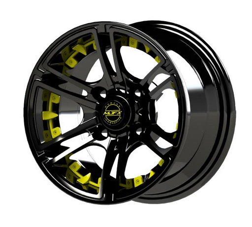 Yellow Inserts for Mirage 12x7 Wheel