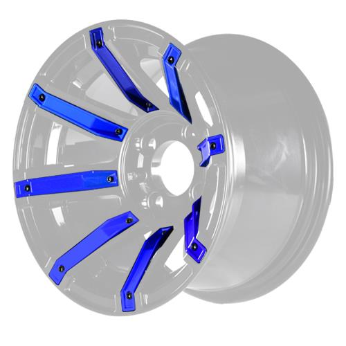 Blue Inserts for Avenger 12x7 Wheel