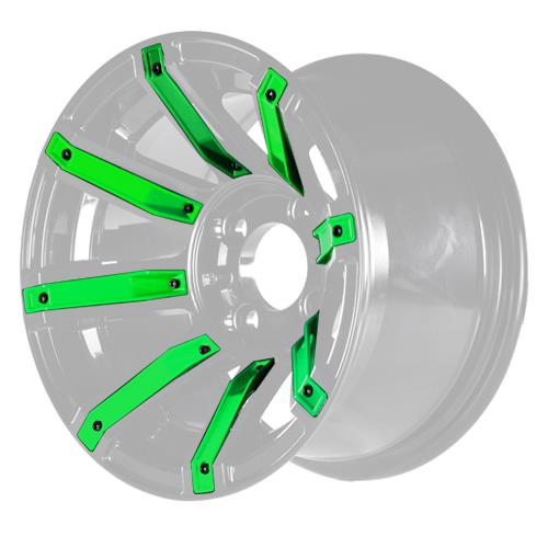 Green Inserts for Avenger 12x7 Wheel