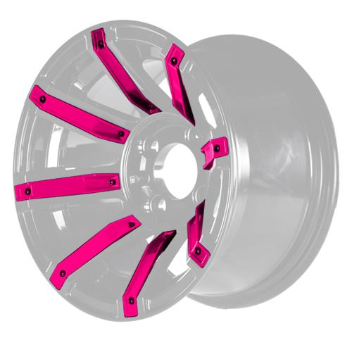 Pink Inserts for Avenger 12x7 Wheel