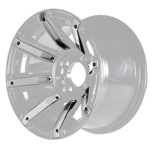 Silver Inserts for Avenger 12x7 Wheel