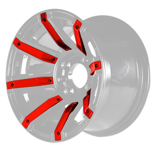 Red Inserts for Avenger 14x7 Wheel