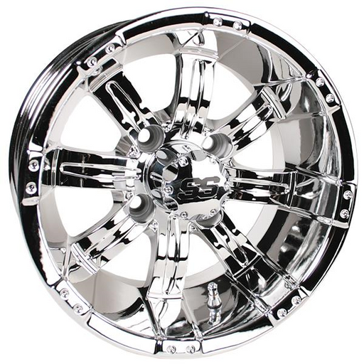 RIM PACKAGE -  GTW TEMPEST 10x7 CHROME WHEEL WITH 205/50-10 STREET TYRES - SET OF 4