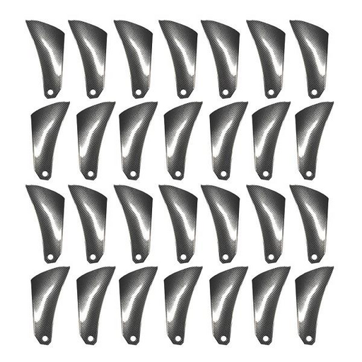 CARBON FIBRE INSERTS FOR BLACKHAWK WHEELS (1 SET IS 4 WHEELS)