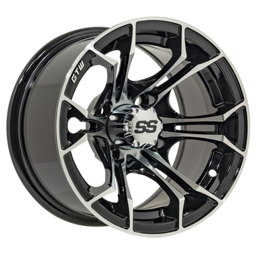 RIM PACKAGE - SPYDER WHEEL 12x7 WITH 215/35-12  STREET TYRES - SET OF 4