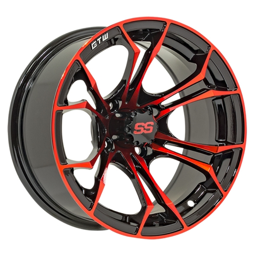 RIM PACKAGE - SPYDER RED WHEEL 12x7 WITH 215/35-12  STREET TYRES - SET OF 4