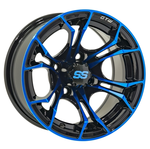 RIM PACKAGE - SPYDER BLUE WHEEL 12x7 WITH 215/35-12  STREET TYRES - SET OF 4
