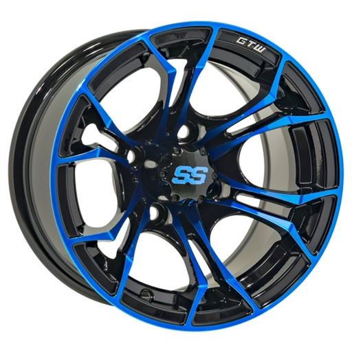 RIM PACKAGE - SPYDER BLUE WHEEL 14x7 WITH 225/30-14 STREET TYRE - SET OF 4