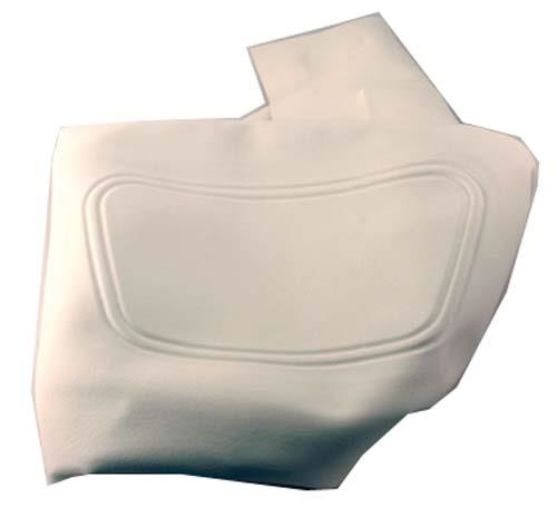 SEAT BACK COVER WHITE CC 04-UP PREC