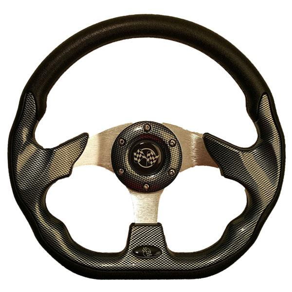 STEERING WHEEL, 12.5 QC-5156F CARBON FIBER
