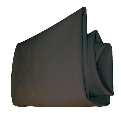 SEAT BOTTOM COVER, BLK CC 79-99